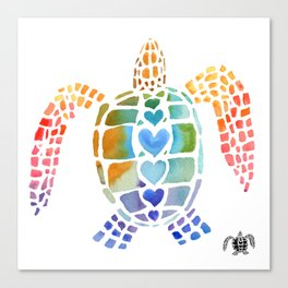 Hug a Sea Turtle Canvas Print