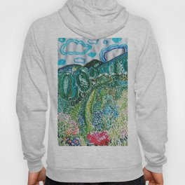 cheerful handmade embroidery in the digital world Hoody