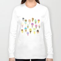 ice cream Long Sleeve T-shirts featuring Ice cream  by maria carluccio
