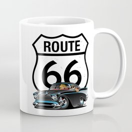 Route 66 Classic Car Nostalgia Coffee Mug