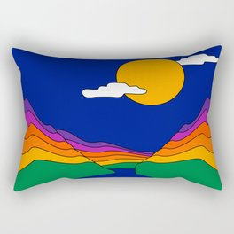 Rainbow Ravine Rectangular Pillow