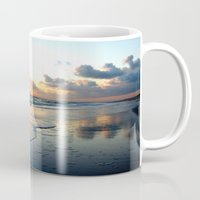 stay gold Mugs featuring Nothing Gold Can Stay by Laura George