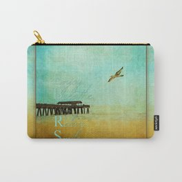 Enjoy Breathe Relax Smile ~ Tybee Island Pier ~ Ginkelmier Inspired Carry-All Pouch