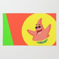 patrick Area & Throw Rugs featuring Patrick Star by Eyetoheart