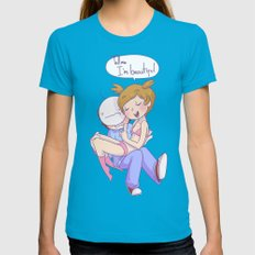 Pewdiecry: Tell me I'm Beautiful! Teal Womens Fitted Tee X-LARGE