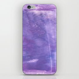 Ube abstract watercolor iPhone Skin