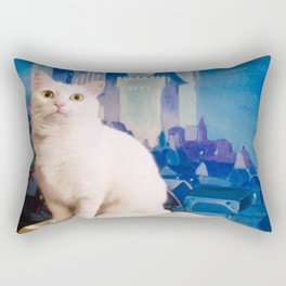 The tale of Tyche the white kitty Rectangular Pillow