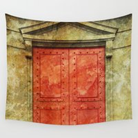 doors Wall Tapestries featuring Red Doors by davehare