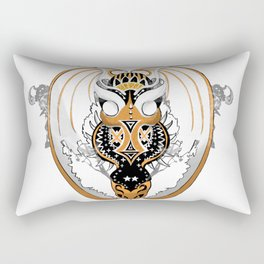 Smoking Copperhead Dragon Rectangular Pillow