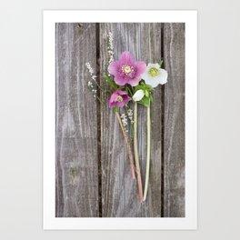 February Bouquet Art Print
