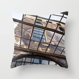 OLD FACTORY BUILDING Throw Pillow