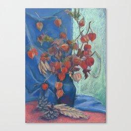 Still life with winter cherry Canvas Print