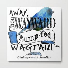 Rump-fed Wagtail Metal Print