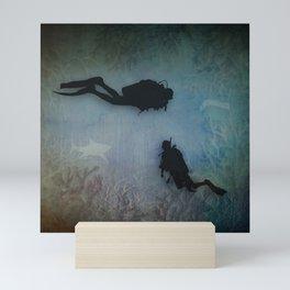Scuba Divers Mini Art Print