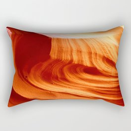 Bright Antelope Canyon Colors Rectangular Pillow