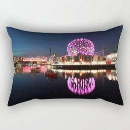 Purple Dandelion Rectangular Pillow