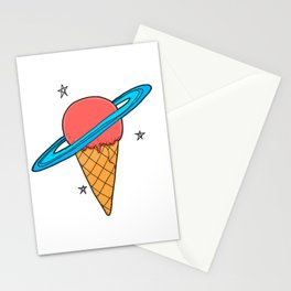 ice-cream star Stationery Cards
