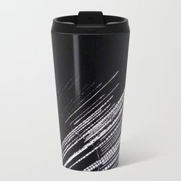 "Linocut fine art original print - black and white - ""Lost I"" - meteor shower Travel Mug"