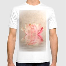 Waterlily White MEDIUM Mens Fitted Tee