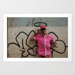 Cuban Streetart - Angel man Art Print
