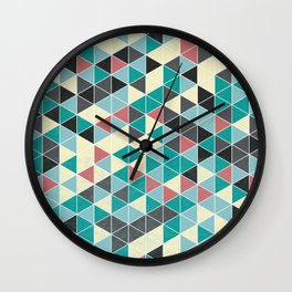 TRIANGLE GREEN Wall Clock