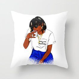 HAVE A CUP OF POSITIVITEA Throw Pillow