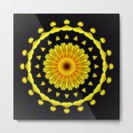 Large Yellow Wildflower Kaleidoscope Art 2 Metal Print