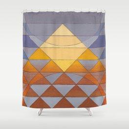 Pyramid Sun Mauve Purple Shower Curtain