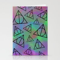 deathly hallows Stationery Cards featuring Deathly Hallows  by Paige Norman