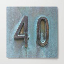 40 Metal Print