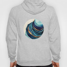 Abstract Blue with Gold Hoody
