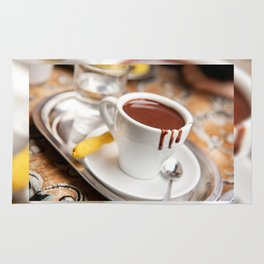 hot milk chocolate and ginger cookie Rug