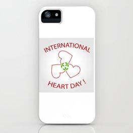 International Heart Day iPhone Case
