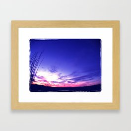 Big Sky Sunset Framed Art Print