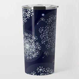 MIDNIGHT MAGIC DANDELION - BLUE by MS Travel Mug