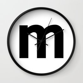 letter M (Black & White) Wall Clock