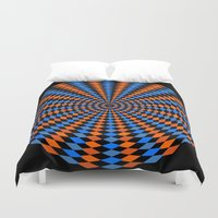 bender Duvet Covers featuring Abstract Mind Bender  by Gabriel J Galvan