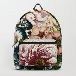 Vintage Peony and Ipomea Pattern - Smelling Dreams Backpack