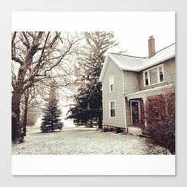 Winter Wonderland in Michigan Canvas Print