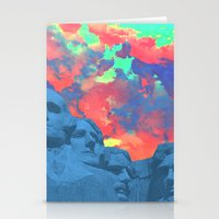 rushmore Stationery Cards featuring Mt Rushmore by Cale potts Art