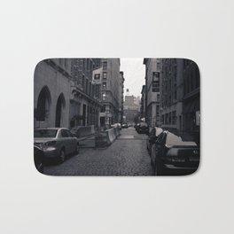Cobble Stone Street In NYC Bath Mat