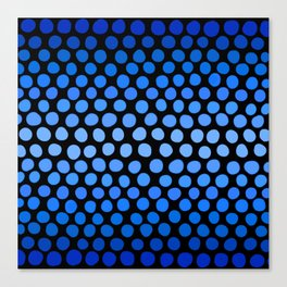China Blue and Azure Blue Dots Ombre Canvas Print