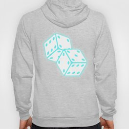 Two game dices neon light design Hoody