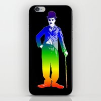 chaplin iPhone & iPod Skins featuring Chaplin by PsychoBudgie