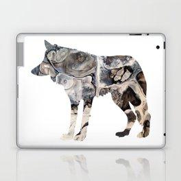 Gray Abstract Fluid Art Wolf Image Laptop & iPad Skin
