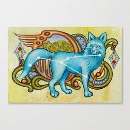 Vulpecula Fox Constellation Canvas Print