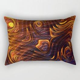 Lava Flow Abstract Rectangular Pillow