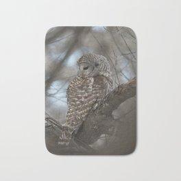 Sleepy Owl Bath Mat