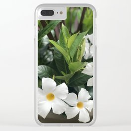 whte flwrs Clear iPhone Case