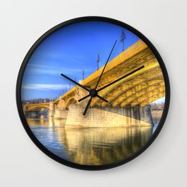 Margaret Bridge Budapest Wall Clock
